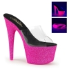 ADORE-701UVG Clear/Neon Pink Glitter